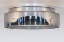 Plafondlamp 14167: modern, eigentijds klassiek, glas, wit opaalglas #5