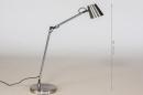 Tafellamp 14179: modern, staal rvs, metaal, staalgrijs #1