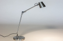 Tafellamp 14179: modern, staal rvs, metaal, staalgrijs #2