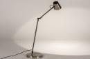 Tafellamp 14179: modern, staal rvs, metaal, staalgrijs #3