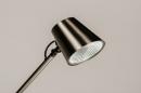 Tafellamp 14179: modern, staal rvs, metaal, staalgrijs #6