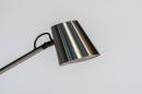Tafellamp 14179: modern, staal rvs, metaal, staalgrijs #9