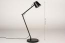 Tafellamp 14180: design, modern, metaal, zwart #1