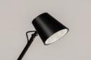 Vloerlamp 14182: modern, metaal, zwart, mat #8
