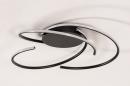Plafondlamp 14195: modern, metaal, zwart, mat #3