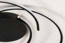 Plafondlamp 14195: modern, metaal, zwart, mat #5