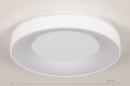 Plafondlamp 14196: modern, kunststof, metaal, wit #1