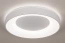 Plafondlamp 14196: modern, kunststof, metaal, wit #2