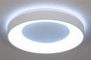 Plafondlamp 14196: modern, kunststof, metaal, wit #3