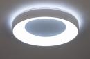 Plafondlamp 14196: modern, kunststof, metaal, wit #4