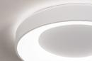 Plafondlamp 14196: modern, kunststof, metaal, wit #5