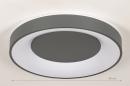 Plafondlamp 14197: modern, kunststof, metaal, antraciet donkergrijs #1