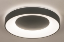 Plafondlamp 14197: modern, kunststof, metaal, antraciet donkergrijs #2