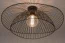 Plafondlamp 14235: modern, metaal, zwart, mat #3