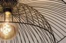 Plafondlamp 14235: modern, metaal, zwart, mat #4