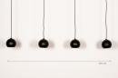 Hanglamp 14251: modern, retro, metaal, zwart #1
