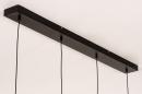 Hanglamp 14251: modern, retro, metaal, zwart #11