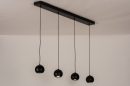 Hanglamp 14251: modern, retro, metaal, zwart #3