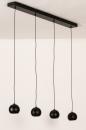 Hanglamp 14251: modern, retro, metaal, zwart #5