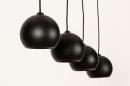Hanglamp 14251: modern, retro, metaal, zwart #6
