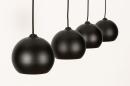 Hanglamp 14251: modern, retro, metaal, zwart #7