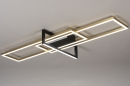 Plafondlamp 14258: modern, art deco, messing, geschuurd #2