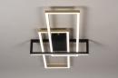 Plafondlamp 14258: modern, art deco, messing, geschuurd #3