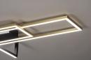 Plafondlamp 14258: modern, art deco, messing, geschuurd #5