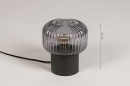 Tafellamp 14266: modern, retro, art deco, glas #1