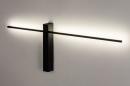 Wandlamp 14272: modern, aluminium, metaal, zwart #6
