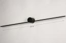 Wandlamp 14275: design, modern, aluminium, zwart #1