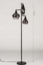 Vloerlamp 14292: modern, retro, eigentijds klassiek, glas #1