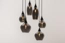 Hanglamp 14295: modern, eigentijds klassiek, art deco, glas #12