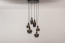 Hanglamp 14295: modern, eigentijds klassiek, art deco, glas #2
