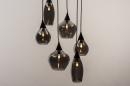Hanglamp 14295: modern, eigentijds klassiek, art deco, glas #3