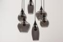 Hanglamp 14295: modern, eigentijds klassiek, art deco, glas #5