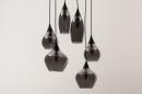 Hanglamp 14295: modern, eigentijds klassiek, art deco, glas #7