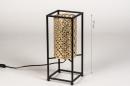 Tafellamp 14330: modern, metaal, zwart, mat #1
