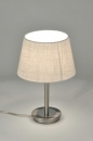 table_lamp-30093-modern-contemporary_classical-rustic-cream-steel_stainless_steel-fabric-round