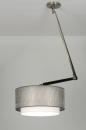 Pendelleuchte-30454-modern-Design-Silber-Stoff-laenglich