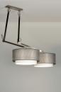 Pendelleuchte-30505-modern-Design-Silber-Stoff-rund-laenglich