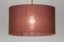 pendant_lamp-30649-sale-modern-contemporary_classical-rustic-brown-Marsala-red-fabric-round