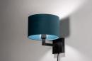 Wandlamp 30935: zwart, mat, blauw #1
