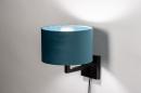 Wandlamp 30935: zwart, mat, blauw #2