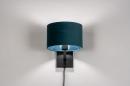 Wandlamp 30935: zwart, mat, blauw #3