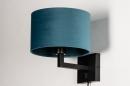 Wandlamp 30935: zwart, mat, blauw #4