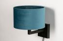 Wandlamp 30935: zwart, mat, blauw #5
