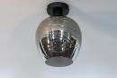 Plafondlamp 30938: modern, retro, eigentijds klassiek, glas #1
