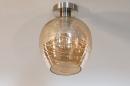 Plafondlamp 30941: modern, retro, eigentijds klassiek, glas #1