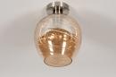Plafondlamp 30941: modern, retro, eigentijds klassiek, glas #3
